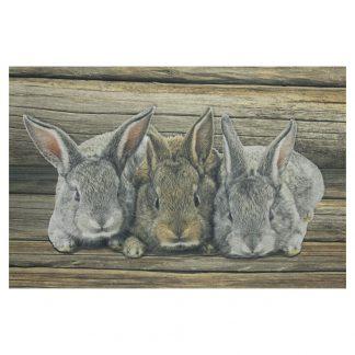 deurmat 3 konijntjes