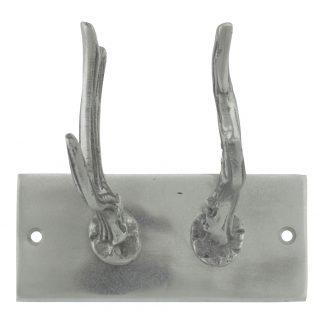aluminium kapstok gewei 2haken