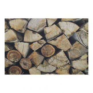 Deurmat openhaardhout