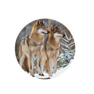 ontbijtborden 2 wolven