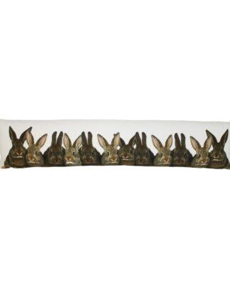 tochtkussen bruine konijnen