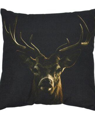 sierkussen-hert-zwart